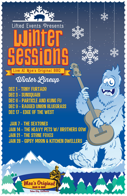 Moe's Winter Sessions Poster