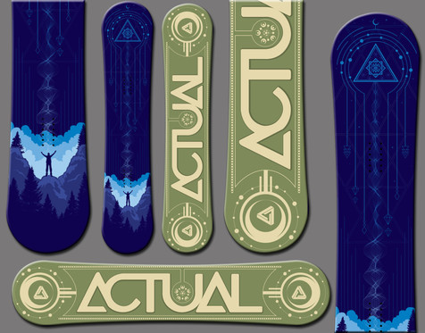 Actual Snowboards Abduction Snowboard
