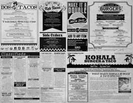 Kohala Newspaper 4 Fold Menu