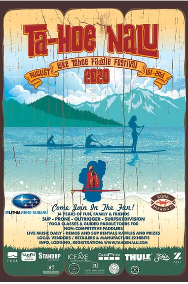 Tahoe Nalu Paddle Festival Poster 2020