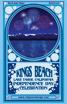 Kings Beach 3rd of July Poster