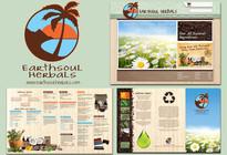 Earthsoul Herbals Logo / Brochure / Website