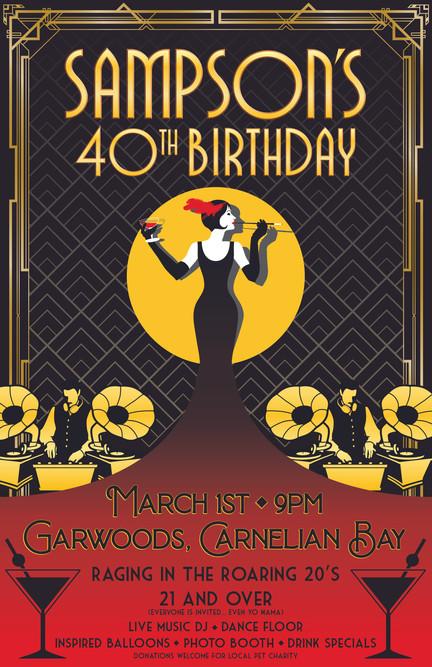 Sampson's 40th Birthday Poster