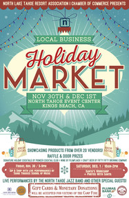 North Lake Tahoe Resort Association Holiday Market Poster