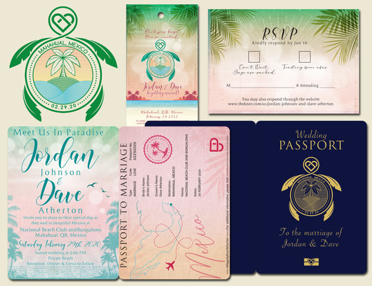 Destination Wedding Logo & Invites