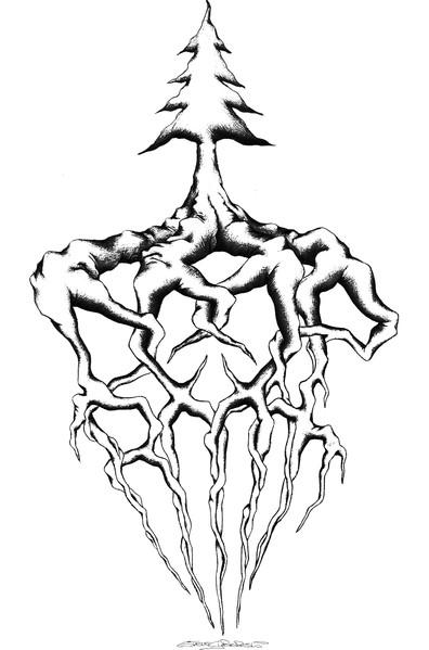 Deep Root Logo Illustration