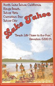 Lake Tahoe Beach Life Poster