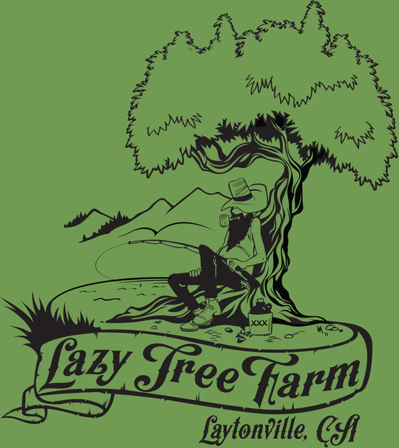 Lazy Tree Farm Logo Illustration