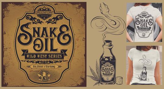 Snake Oil Strain Logo & T-Shirts