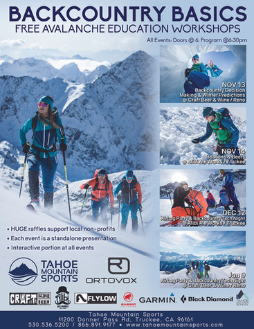 Tahoe Mountain Sports Backcountry Poster