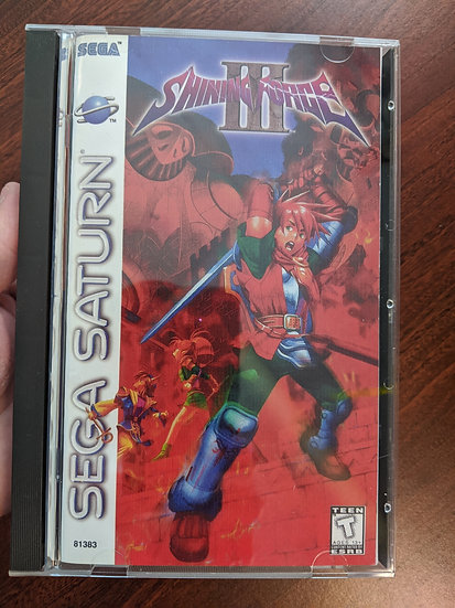 Shining Force 3 Sega Game, Manual, Back Art, Case, Case Protector & Sponge