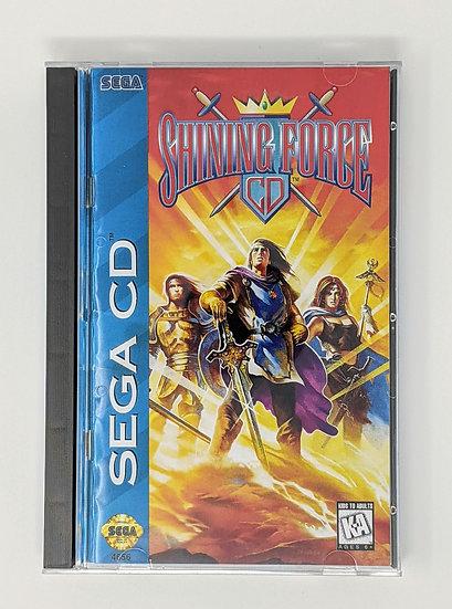 Shining Force CD Game, Manual, Back Art, Case, Case Protector & Sponge