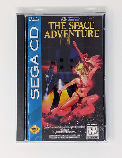 The Space Adventure game, manual, back art, case, case protector & sponge