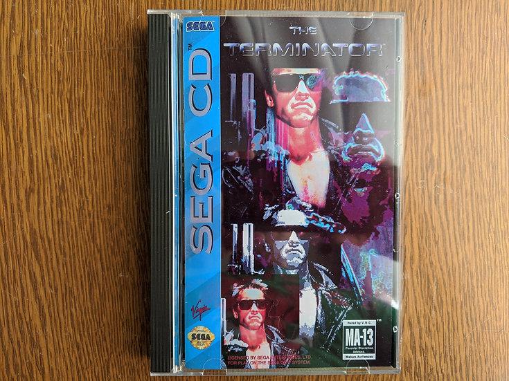 Terminator Game, Manual, Back Art, Case, Case Protector & Sponge