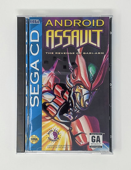Android Assault game, manual, back art, case, case protector & sponge