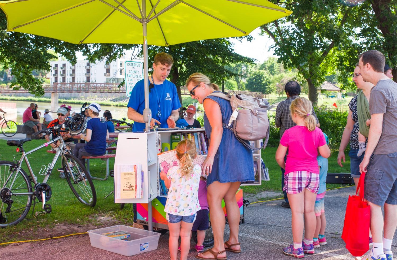 Book Bike & Art Cart