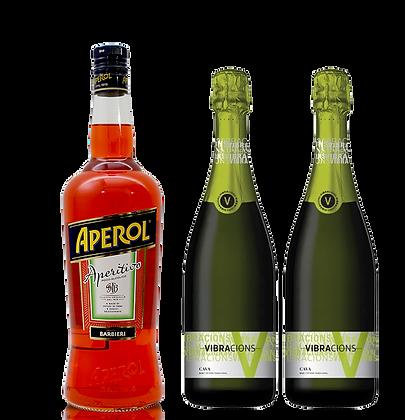 אפרול ליטר + שני בקבוקי קאווה