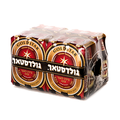 ארגז בירה גולדסטאר - 24 יח'