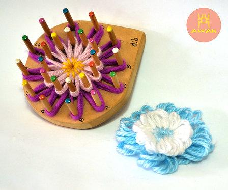 Flor doble de 24 clavijas