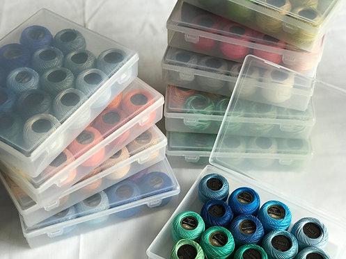 160 Hilos Perle en 10 cajas organizadoras