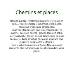 Chemins et places