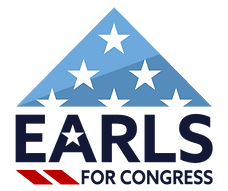 Earls for Congress Logo inverted backgro