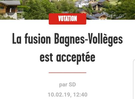 La fusion Bagnes-Vollèges saluée par l'AAB