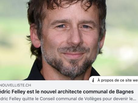 Cédric Fellay nouveau chef de service des construction de Bagnes.