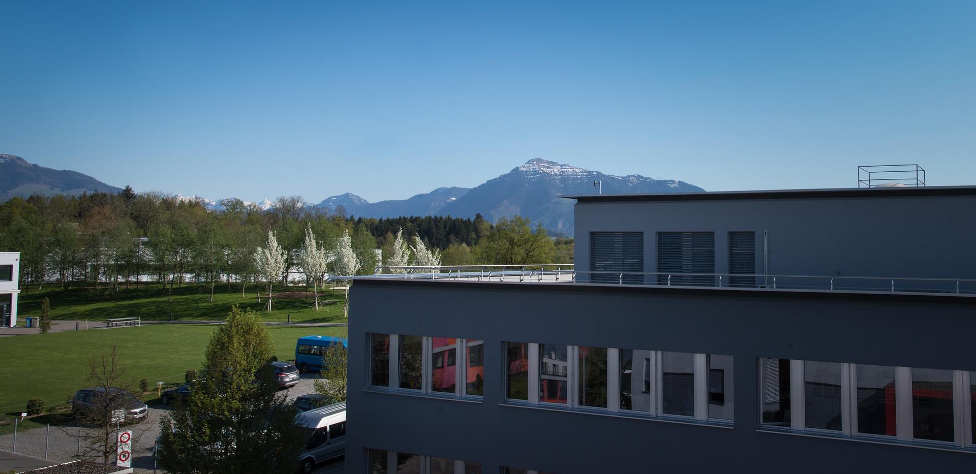 Der Böschpark und die Rigi  /  The Böschpark and the Rigi