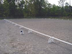 white stanchions setup