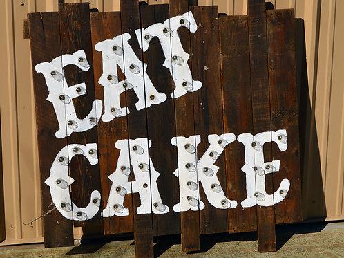 Eat Cake Sign