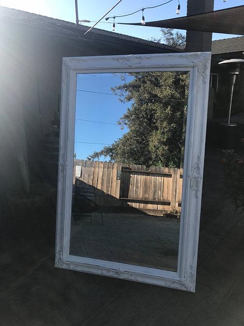 4'x6' Large White Shabby Chic Mirror