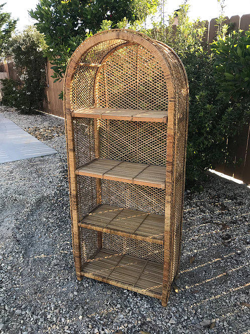 Large Boho Wicker Shelf