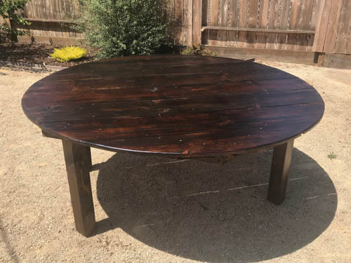 NEW! 6 Foot Round Farmhouse Tables