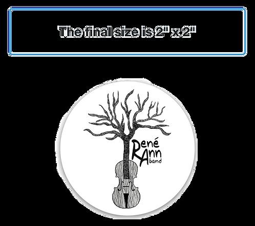 Rene Ann Band sticker - button sized