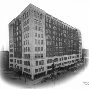Roshek Building from Historical Society