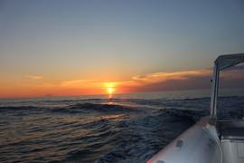 Marlove   il tramonto visto dalla nostra imbarcazione