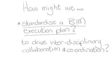 How might we standardise a BIM execution plan to drive inter-disciplinary collaboration/coordination