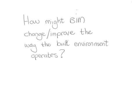 How might BIM change/improve the way the built environment operates?