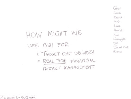 How might we use BIM for target cost delivery, real-time financial project management?