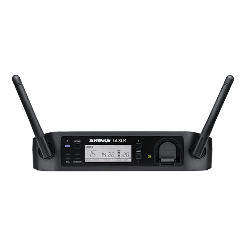 Shure GLXD4 Wireless Receiver Kit w/ E Mic (recommended)