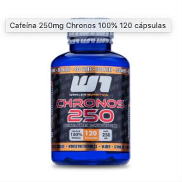 Cafeína 250mg Chronos 100% 120 Cápsulas