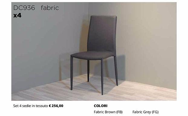 4 sedie FABRIC in tessuto diversi colori