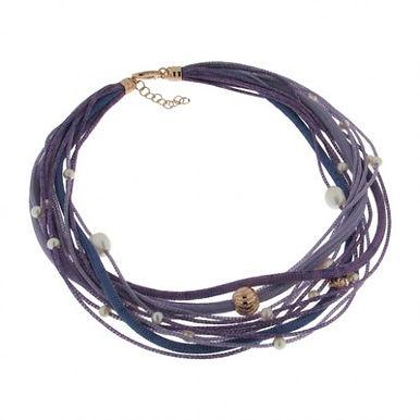 Collana in argento 925/perle naturali/rame - SFU/V