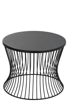 Tavolino metallo basso nero opaco