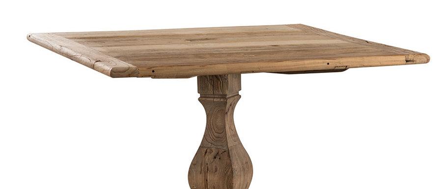 Tavolo quadrato in legno massello di Olmo