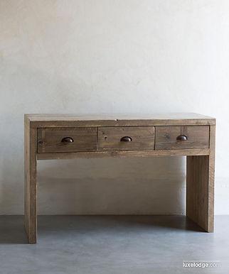 Consolle con cassetti, in legno recupero