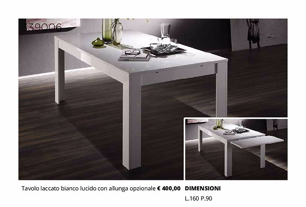 Tavolo allungabile bianco lucido
