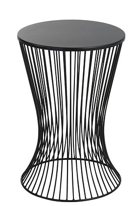 Tavolino metallico alto nero opaco