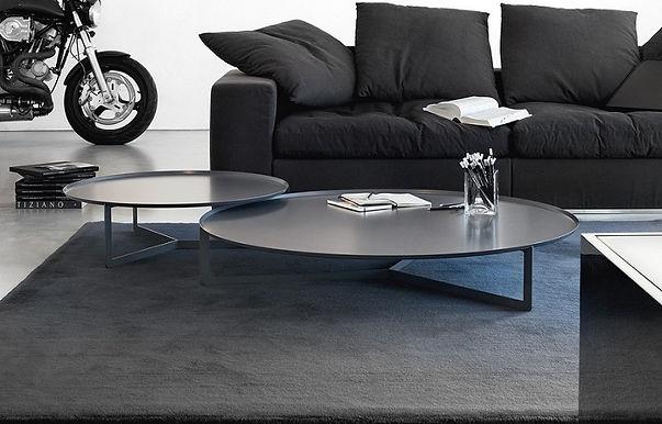 ROUND 3 tavolino rotondo in metallo cm ø80x23h
